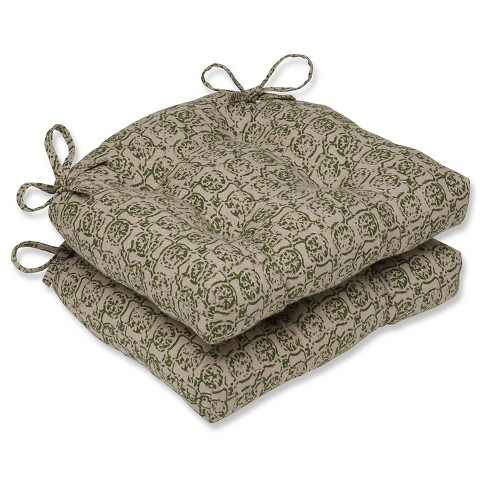 Castille Reversible Chair Pad (Set Of 2) - Pillow Perfect - image 1 of 1