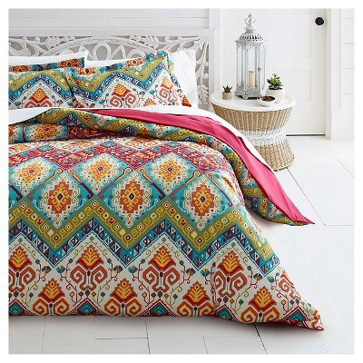 Moroccan Nights Duvet Cover Set Red - Azalea Skye