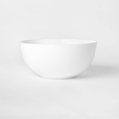 64oz Glass Serving Bowl White - Made By Design™