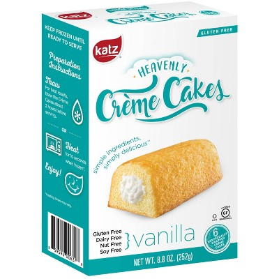Katz Gluten Free Heavenly Creme Cakes Vanilla  - 8.8oz