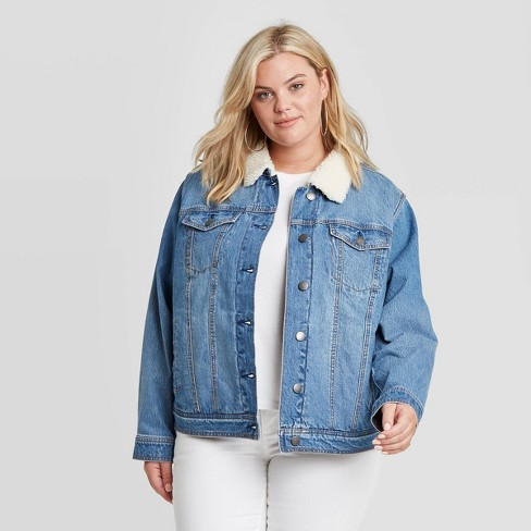Women's Plus Size Sherpa Jacket - Universal Thread™ - image 1 of 4