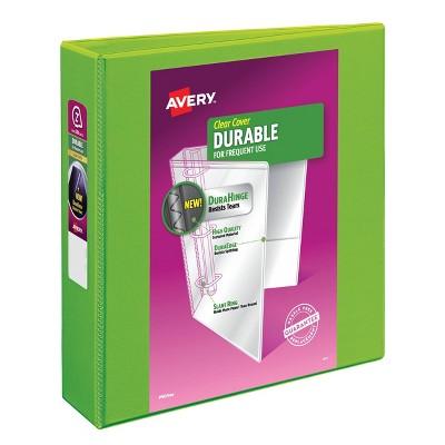 "Avery 2"" Slant Rings 500 Sheet Capacity Durable View Binder - Green"