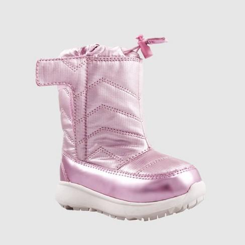 Toddler Girls' Himani Winter Boots - Cat & Jack™ Pink - image 1 of 4