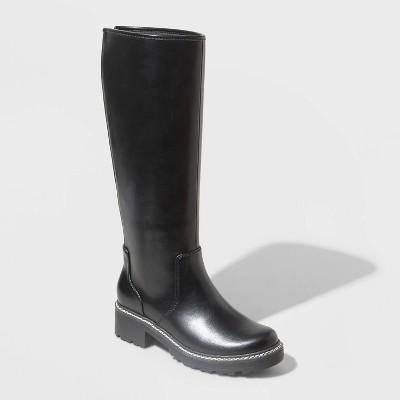 Women's Carabel Tall Lug Soled Boots - Universal Thread™ Black
