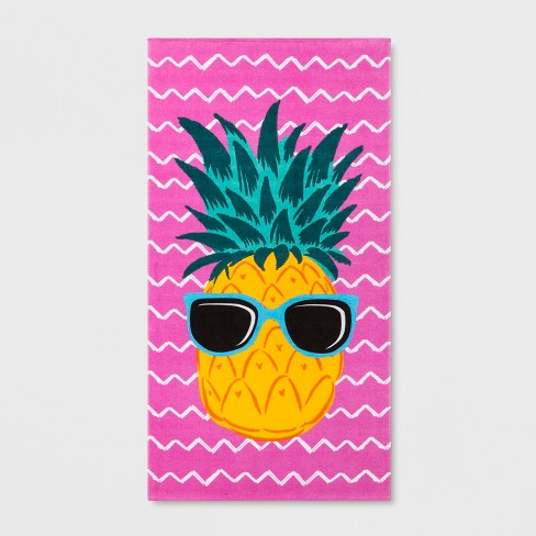 Pineapple Beach Towel Pink - Sun Squad™ - image 1 of 2