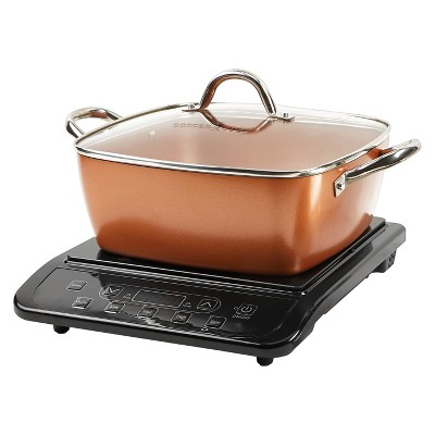 As Seen on TV® Copper Chef XL Precision Induction Cooktop and 11  Casserole Kit