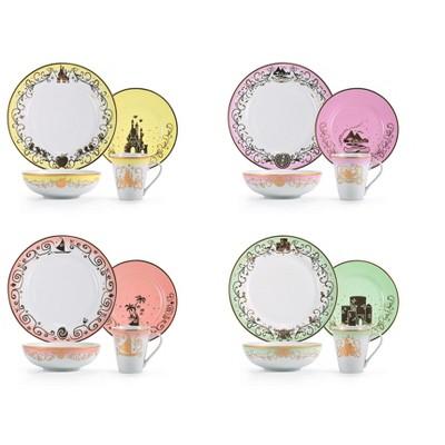 Disney Princess 16-Piece Ceramic Dinnerware Set Collection 3 | Plates, Bowls & Mugs