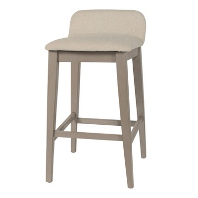 "26.25"" Maydena Non Swivel Counter Height Barstool Beige - Hillsdale Furniture"