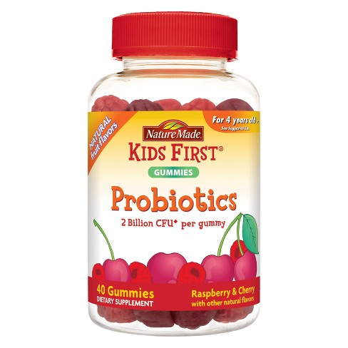 Nature Made Kids First Probiotic Gummies - Raspberry & Cherry - 40ct - image 1 of 4