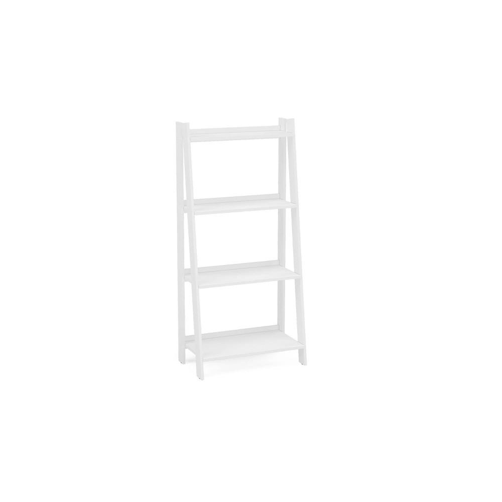 Image of Lisbon 4 Shelf Bookcase White - Chique