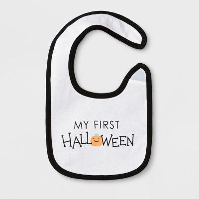 Baby's My First Halloween Bib - Cloud Island™ White