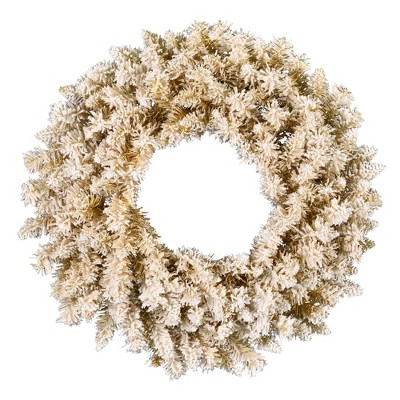 Vickerman Artificial Frosted Gold Fir Wreath