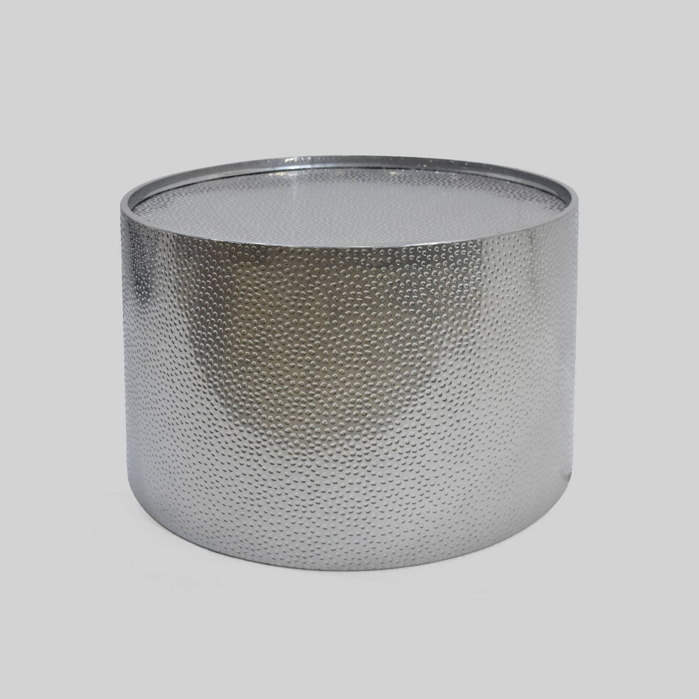 Braeburn Modern Round Coffee Table Silver - Christopher Knight Home