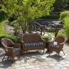 Aurora Stripe Wicker Settee Cushion Sapphire - Arden Selections - image 2 of 3