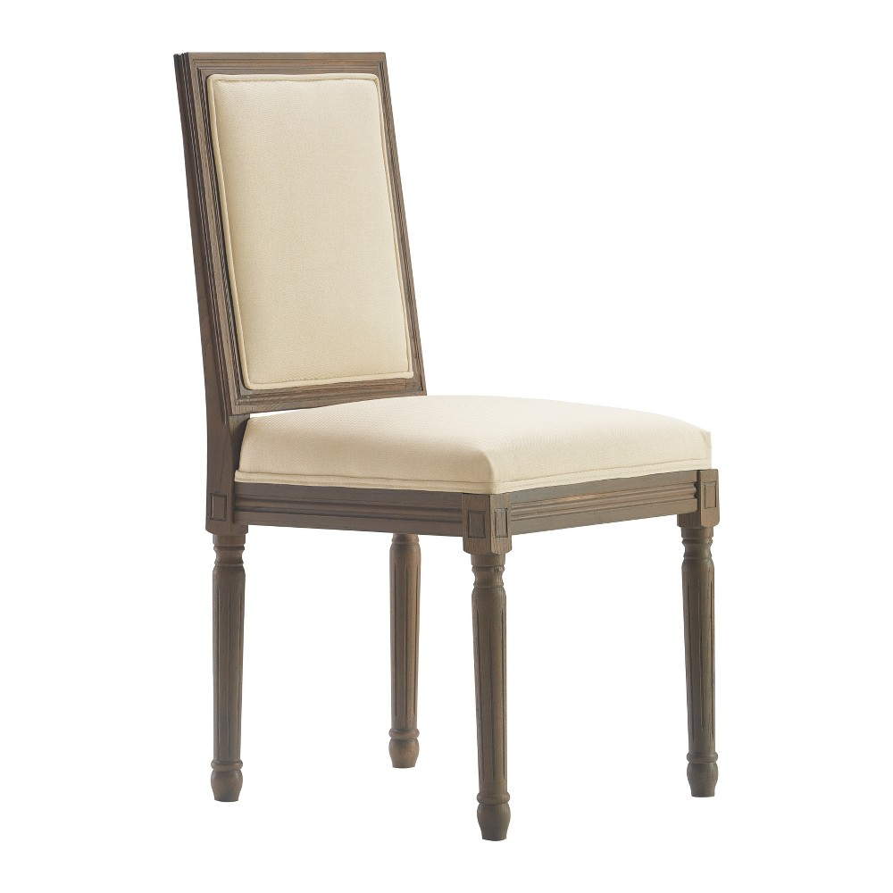 Elmhurst Square Side Chair Set of 2 Vintage Cream (Ivory) - Finch