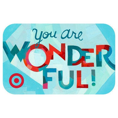You are Wonderful GiftCard