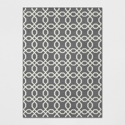 5'X7' Tufted And Looped Area Rug Trellis Gray - Threshold™