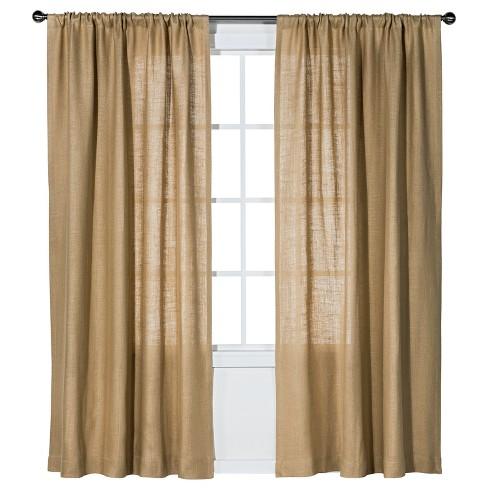 Burlap Curtain Panel Nate Berkus