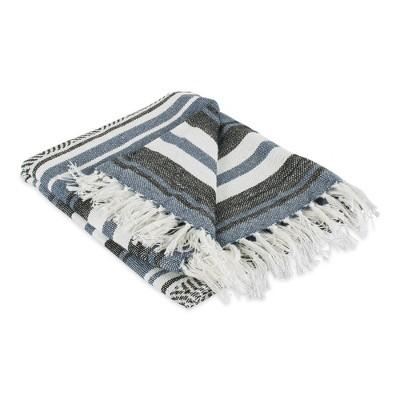 """50""""x60"""" Farmhouse Striped Throw Blanket - Design Imports"""