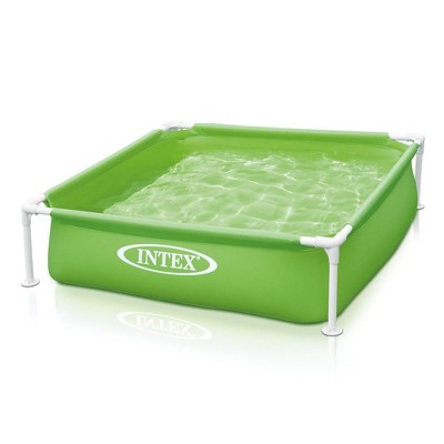 Intex 57172EP 48 x 12 Inch Mini Frame Kids Beginner Kiddie Swimming Pool, Green