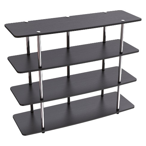 High Boy Tv Stand Black 47 Convenience Concepts