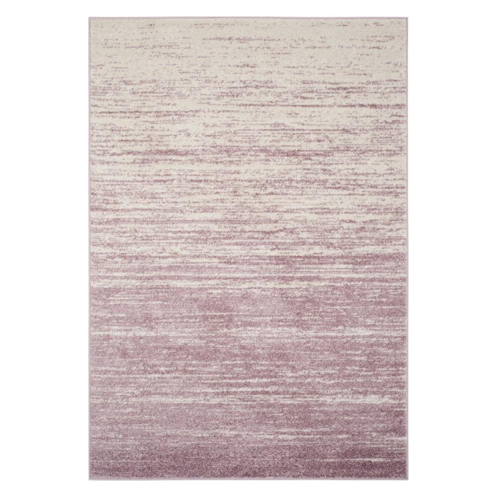 6'X9' Ombre Design Area Rug Cream/Purple (Ivory/Purple) - Safavieh