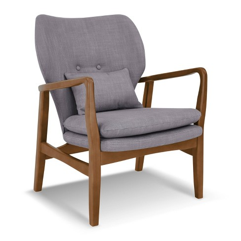 Leonardo Mid Century Chair with Walnut Wood - Poly & Bark - image 1 of 4