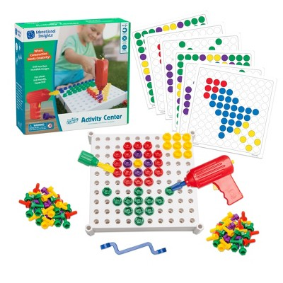 Educational Insights Design & Drill Activity Center, 146 Pieces, Ages 3+