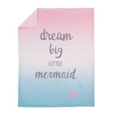 NoJo Sugar Reef Mermaid Super Soft Ombre Baby Blanket Dream Big Little Mermaid