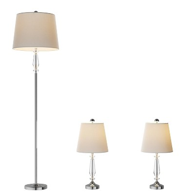 Crystal Candlestick Lamps-3 Set Faceted