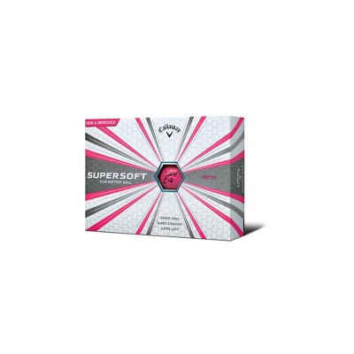 Callaway Supersoft Golf Balls 12pk - Pink