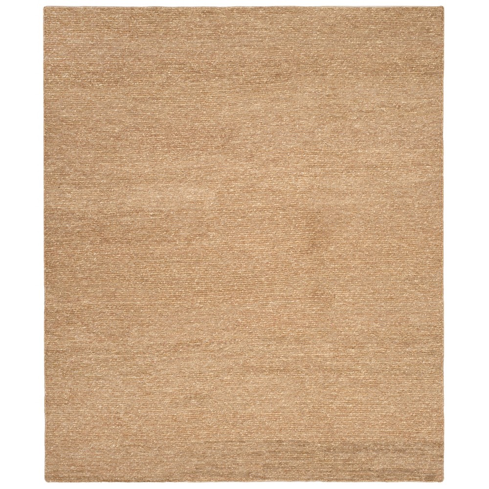 9'X12' Woven Solid Area Rug Natural - Safavieh, White