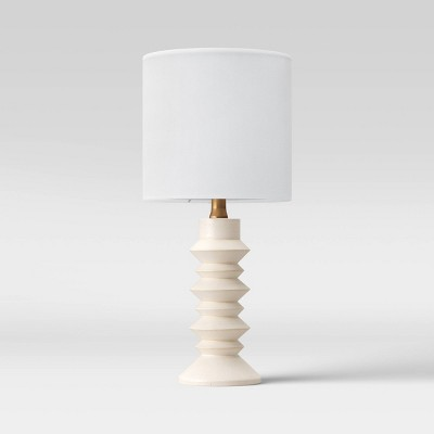 Textured Wood Ribbed Accent Lamp White - Project 62™