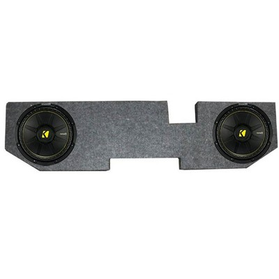 KICKER 44CWCS124 12 Inch 600W Subwoofers + For Dodge Ram Quad '02-New Box