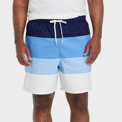 "Men's 7"" Colorblock Swim Trunks - Goodfellow & Co™ Navy"