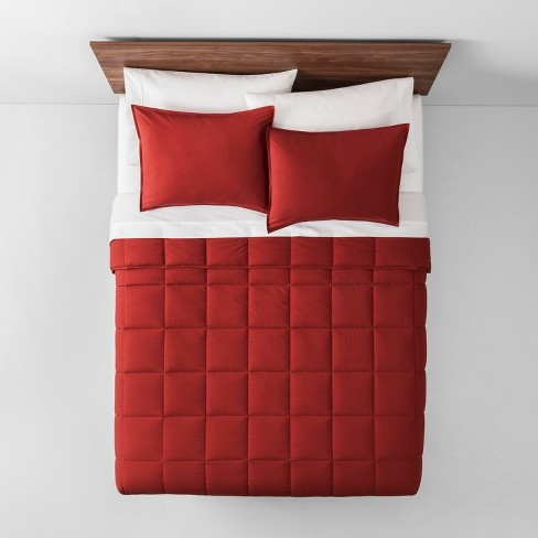 Red Solid Down Alternative Comforter King Made By Design Target