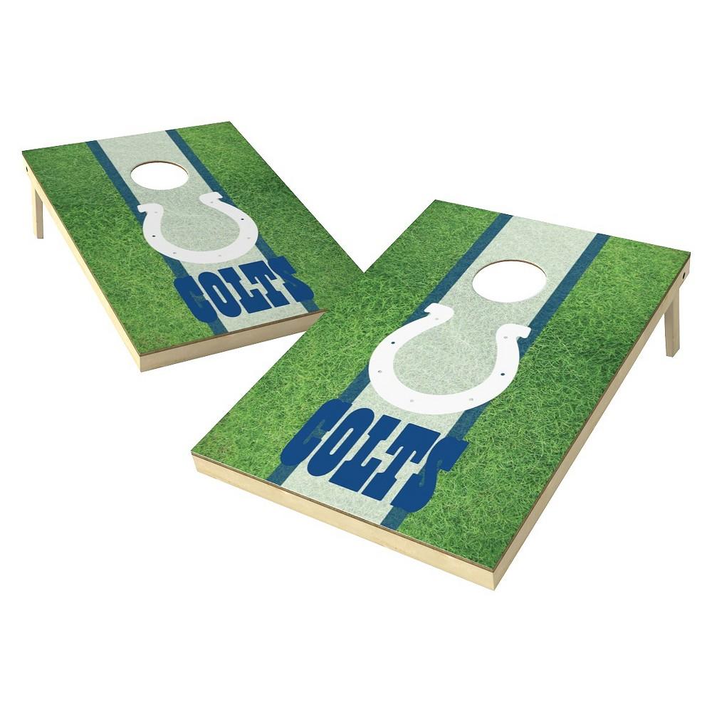 Indianapolis Colts Wild Sports Field Shield Cornhole Bag Toss Set - 2x3 ft.