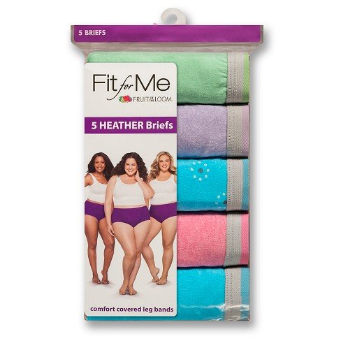 83a9c53f0b7 Fit For Me® By Fruit Of The Loom® Women's Heather Briefs 5-Pack - Size 13  (Colors May Vary) : Target