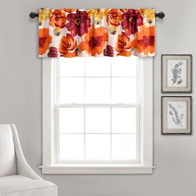 "18""x52"" Leah Room Darkening Single Window Valance - Lush Décor"