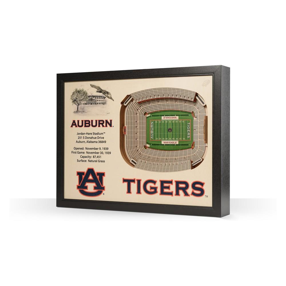 NCAA Auburn Tigers 25 Layer Stadiumviews 3D Wall Art
