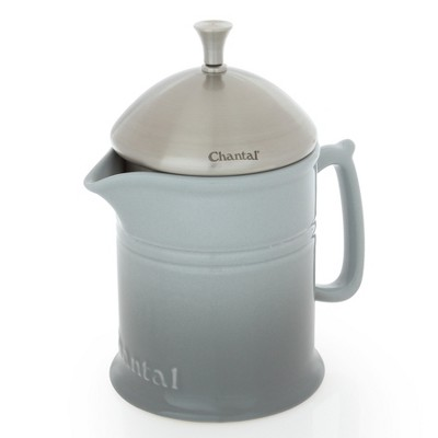 Chantal Ceramic French Press 4 Cup - Fade Gray