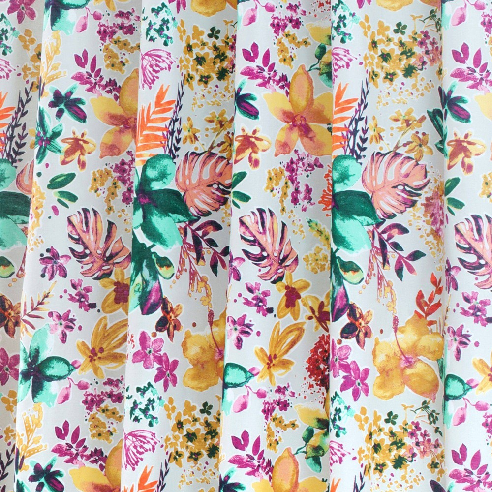 72 34 X72 34 Garden Party Cotton Fabric Shower Curtain Nicole Miller