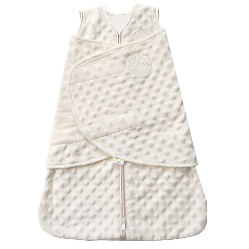 HALO® Sleepsack® Plushy Dot Velboa Swaddle - NB - image 1 of 3