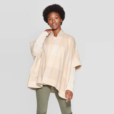 womens-plaid-ruana-kimono-jacket---universal-thread-cream-one-size by universal-thread