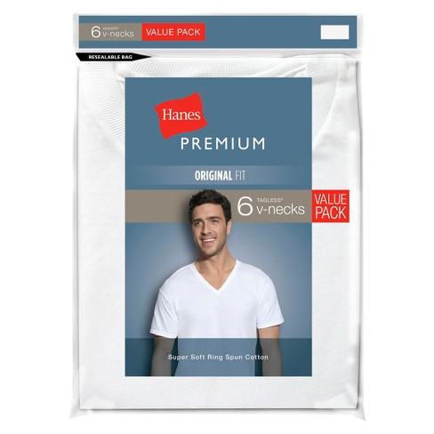 Hanes Premium 7 V-neck Size S//p