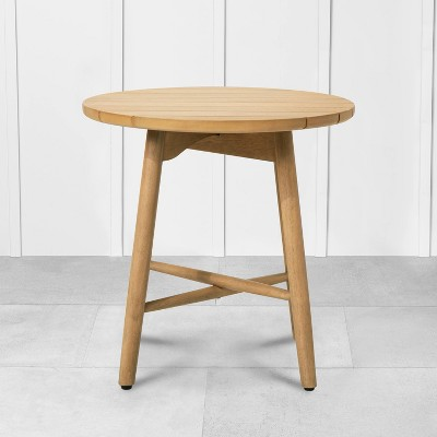 Outdoor Round Side Table Natural - Hearth & Hand™ with Magnolia