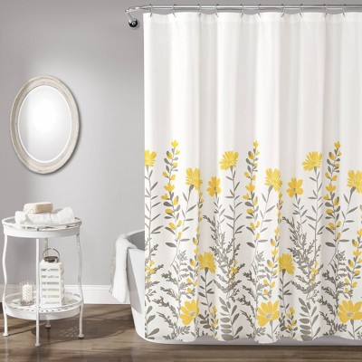Aprile Shower Curtain Yellow/Gray - Lush Décor