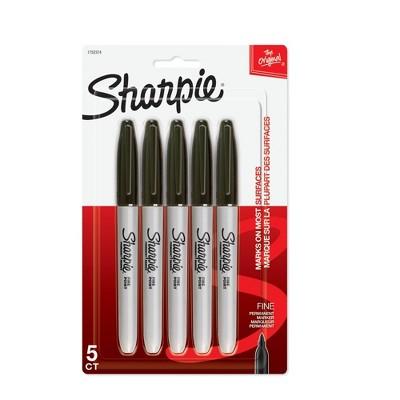 Sharpie 5pk Permanent Marker Fine Tip Black