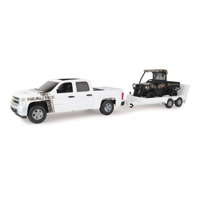 TOMY Big Farm 1:16 RealTree Chevrolet Pickup with John Deere Gator