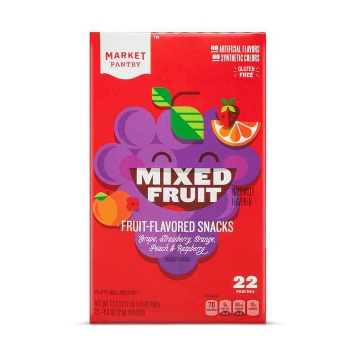 Mixed Fruit Flavored Fruit Snacks - 22ct - Market Pantry™ - image 1 of 1